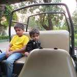 Chirag and Jiya ready early morning for Tiger Safari !!!