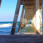 Under the pier at Wrightsville Beach...about 15 minutes from Baymont