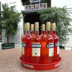 Campari bar outside terrace