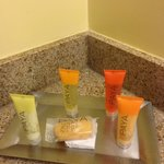 Bathroom amenities.