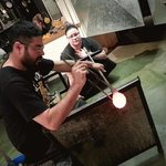 Blowing glass with Alejandro