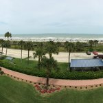 Panoramic shot of the beach from the balcony