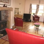 Our guest sitting room complete with log burner.