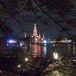 View of Wat Arun at night