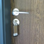 Lock and key for room door