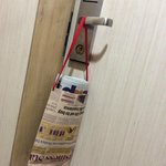 nice way of putting the newspaper on the door handle