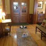 front hall with the pups