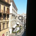 Piazza del Popolo can be seen from room