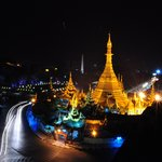 Sule Pagoda view from May Shan rooftop