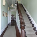 The grand staircase in the West Cliff Inn.