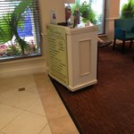 Shuttle Podium in hotel lobby operated by Ft Lauderdale Shuttle LLC