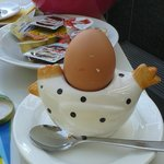 Cathy will offer eggs as you like for breakfast.