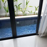 pool is just in front of ur bedroom!
