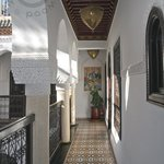 Walkway outside our room at Riad Adriana