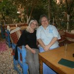 Jane Akshar (owner of Flats in Luxor) and myself at El Fayrouz restaurant