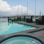 Roofdeck Pool (with a view of the Fernan Bridge)