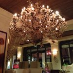 Chandelier in lobby area