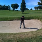 sand bunker on the 13th hole