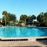 Large pool, also hot tub and children's wading pool