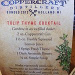Tulip Thyme Cocktail