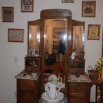 Beautiful old dresser in cowboy room