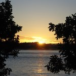 Sunrise, Bateman's Bay, 6.43 a.m., from our Zorba Motel balcony, May 1st, 2014.