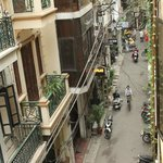Street facing my room veranda