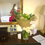 My flowers organised by the hotel ;)