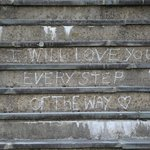 Sentiments on the steps