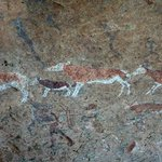 Rock Paintings at the Brandberg White Lady site