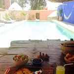 Delicious lunch by the pool