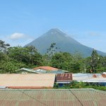 View of the volcano from the deck