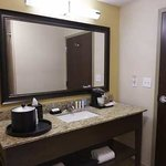 Modern, clean bathrooms are what you can expect when you stay at our hotel.