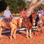 Enjoying a trail ride along Kings Creek at Pfeiffer Riding Stables.