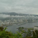 Atami looking from the top after the cable car ride up.