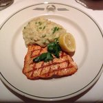 Salmon and Parmesan mashed potatoes.