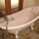 Old fashioned claw foot tub