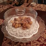 Lucy's amazing Ukranian Tea Cookies.  Yum!