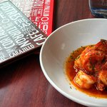 Gambas al ajillo (Shrimps in garlic sauce)