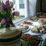 Our Catered Luncheon in the Dining Room