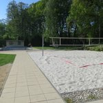 Beach volleyball + outside pool