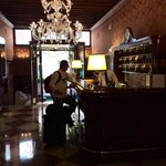 The lobby of the Hotel! My husband chrcking in