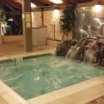 Lovely Hot tub too, complete with waterfall!