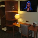 Premier Inn Ashington: desk with TV