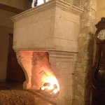 entrance area fireplace