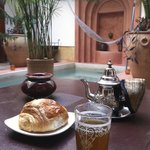 Ground floor - with my Moroccan tea