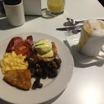 Egged benadict with Cafe Latte... Simply sensational buffet brekky!