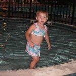 Maddy in the Kiddie pool