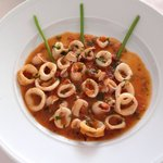 A first course: Calamari a Sicilian