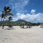 Mount Nevis from the beach